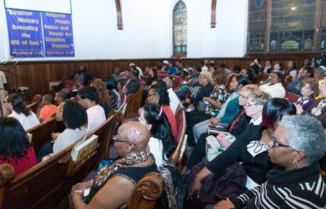 crowded church pews